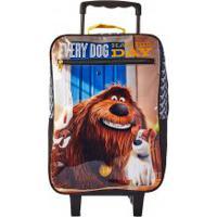 Mochila Escolar De Rodinhas Disney Pets Max E Duke