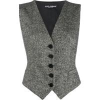Dolce & Gabbana Colete Com Padronagem - Preto