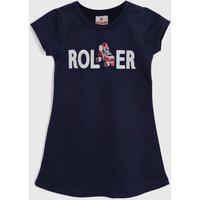 Vestido Brandili Infantil Roller Azul-Marinho