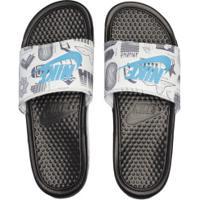 Chinelo Nike Benassi Jdi Print - Slide - Masculino - Preto/Azul