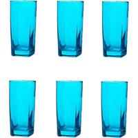 Conjunto De Copos Bali Azul 320Ml - Com 6 Peças - Casa Linda