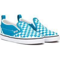 Vans Kids Tênis Xadrez De Canvas - Azul