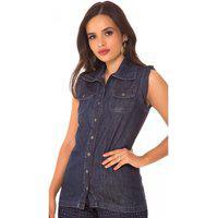 Colete Jeans Express Fernanda Azul
