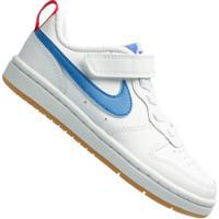 Tênis Nike Court Borough Low 2 - Infantil - Branco/Azul