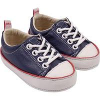 Tênis Infantil Couro Catz Calçados Noody Cadarço - Unissex-Marinho+Branco