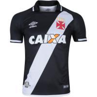 Camisa Do Vasco Da Gama I 2017 Umbro Com Patrocínio - Masculina - Preto  Branco 543161712f20b