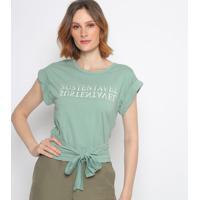 """Blusa """"Sustentã¡Vel"""" - Verde Claro & Off White - Colccolcci"""