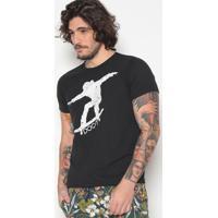Camiseta Skate- Preta & Branca- Doctdoct