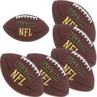 Kit Com 6 Bolas Nfl Super Grip Futebol Americano - Wilson - Unissex