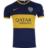 Camisa Boca Juniors I 19/20 Nike - Masculina - Azul Esc/Amarelo
