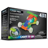 Blocos De Montar Laser Pegs Carros 4 Em 1 Verde
