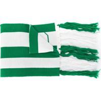 Gcds Kids Echarpe Listrada Com Tassel - Verde
