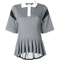 cd9879bd3a Farfetch  Koché Camisa Polo Com Contraste - Cinza