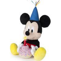 Pelúcia Com Sons - 30Cm - Disney - Mickey Mouse - Mickey Happy Birthday - Multikids