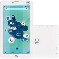 "Tablet Dl Socialphone 700 7"" Wi-Fi 3G Dual 8Gb Tx316Bra Branco"