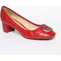 33be7b963d Sapato Tradicional Em Couro Com Tag - Vermelho - Scapodarte