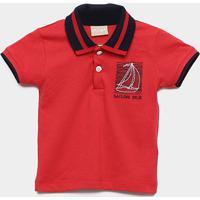 Camisa Polo Infantil Milon Sailing Masculina - Masculino