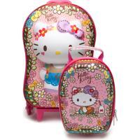 Kit De Mochila E Lancheira Maxtoy Hello Kitty