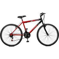 Bicicleta Master Bike Aro 26 Masculina Max Power 18 Marchas Vermelho E Preto
