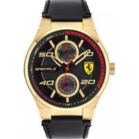 Relógio Scuderia Ferrari Masculino Couro Preto - 830417