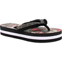 e885c5cd5f52db Chinelo Zariff Shoes Flatform Strass Feminino - Feminino-Vermelho+Preto