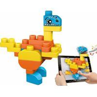 Blocos Montar Interativos - App Toys - Dinossauros - Chicco - Unissex-Incolor