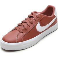 Tênis Couro Nike Sportswear Court Royale Ac Laranja
