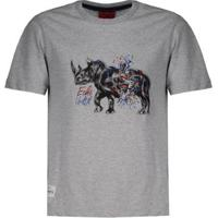 Camiseta Ecko Rhino Estampada Juvenil Masculina - Masculino-Cinza