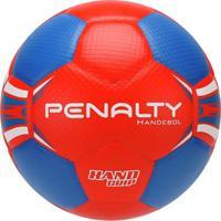 Bola De Handebol Penalty H2L - Unissex-Vermelho+Azul