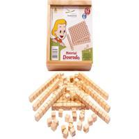 Material Dourado Individual Com 62 Peças Madeira - Fundamental - Kanui