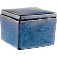 Caixa Quadrada Pond 7 Cm Azul
