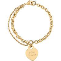 Pulseira Coraã§Ã£O Com Nome Personalizado Banhado A Ouro 18K - Dourado - Feminino - Dafiti