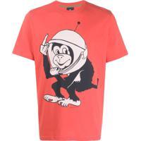 Ps Paul Smith Camiseta Ampla Space Monkey - Laranja