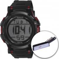 Relógio Digital Speedo 81069G0 Com Kit De Ferramentas - Masculino - Preto/Vermelho