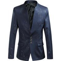 Blazer Masculino Riscas - Azul Marinho