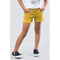Short Bigode Reserva Mini Feminino - Feminino-Amarelo