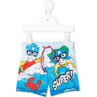Dolce & Gabbana Kids Short Super - Azul