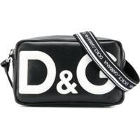 Dolce & Gabbana Kids Bolsa Tiracolo De Couro Com Logo - Preto