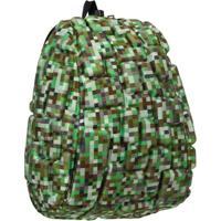 Mochila Infantil Madpax Blok Camuflada - Unissex-Verde Militar