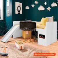 Cama Infantil Multifuncional Lousa Playground Branca
