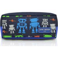 Estojo Infantil Jacki Design Robô Microfibra Masculino - Masculino-Marinho