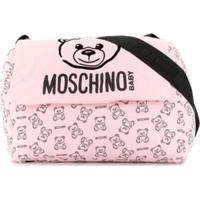 Moschino Kids Bolsa Maternidade 'Teddy Bear' - Rosa