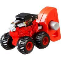 Lançador E Mini Veículo - Hot Wheels - Monster Trucks - Bone Shaker - Mattel