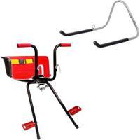 Cadeirinha Infantil Dianteira Bike Super Luxo + Suporte De Parede 1 Bike Al-05 - Unissex