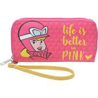 Carteira Penã©Lope Charmosaâ® - Pink & Amarela - 10,5Xurban