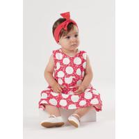 Vestido Up Baby Bebê Vermelho