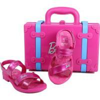 Sandália Infantil Grendene Barbie Maleta
