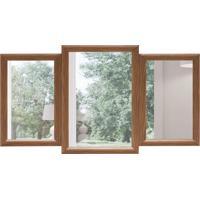 Espelho Decorativo Portofino 68X124 Cm Madeira
