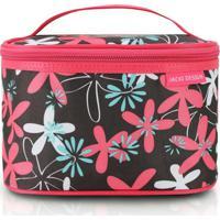 Necessaire Frasqueira Jacki Design Nylon - Feminino-Pink+Preto
