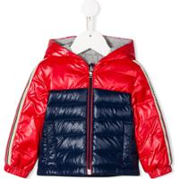 Moncler Kids Bi-Colour Quilted Down Coat - Vermelho